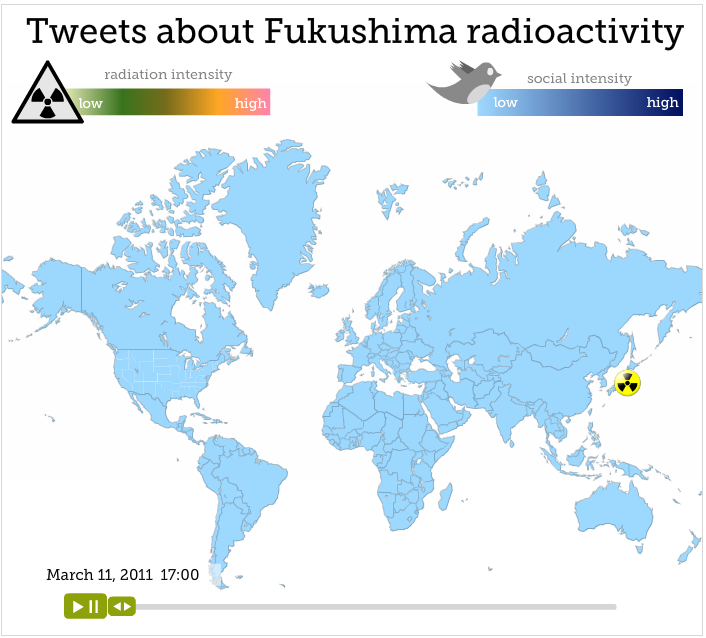 How Fukushima's Radioactive Cloud Influenced Social Networks