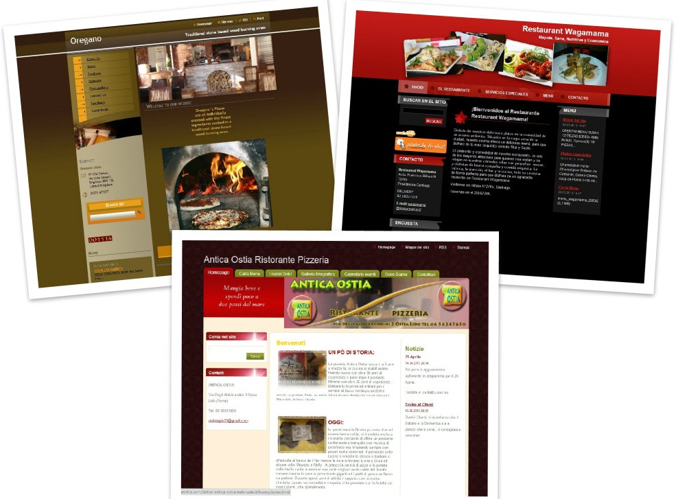 restaurant website templates