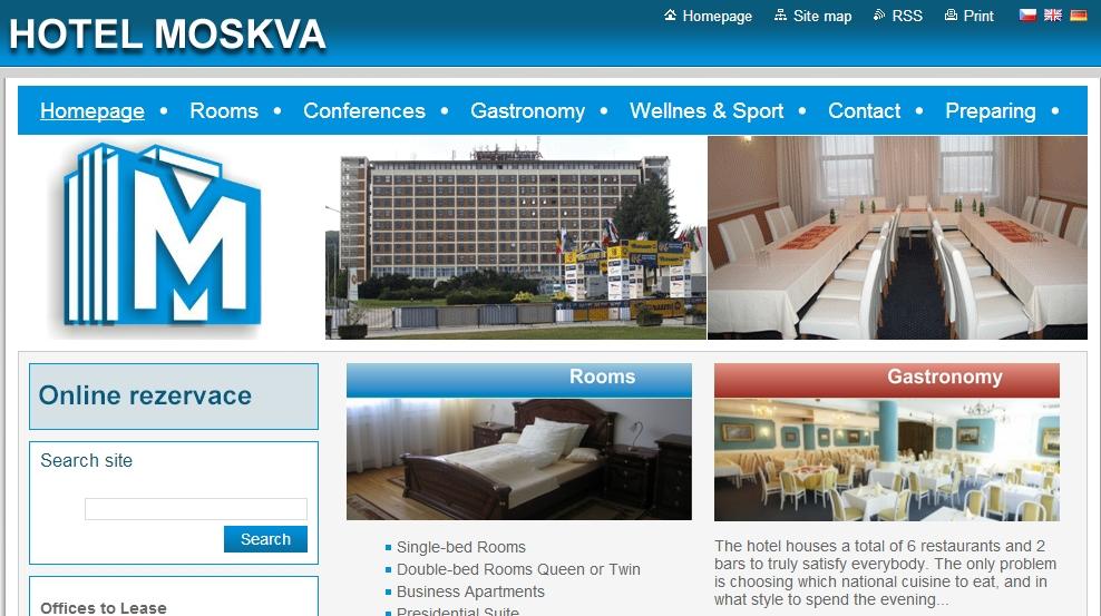 pagina de hotel: